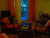 Studio and balcony