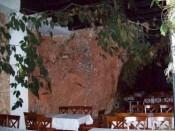 Restaurant in rocks