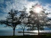 Ohrid lake sunset