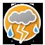 Resen: thunderstorm with heavy rain