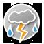 Охрид: грмежи со дожд